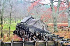 Mabry Mill - rear view Royalty Free Stock Images