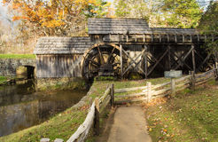 Mabry Mill - Side View. A side view of Mabry Mill on the Blue Ridge Parkway, Floyd County, Virginia, USA royalty free stock photo