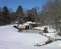 Mabry Mill in winter Royalty Free Stock Image