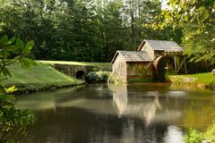 Mabry Mill. Is a working corn mill in Meadows of Dan,Virginia on the Blue Ridge parkway Stock Photos