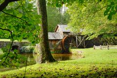 Mabry Mill. Is a working corn mill in Meadows of Dan,Virginia on the Blue Ridge parkway Royalty Free Stock Image