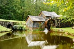 Mabry Mill. Is a working corn mill in Meadows of Dan,Virginia on the Blue Ridge parkway Royalty Free Stock Photos