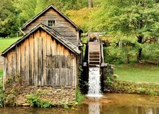 Mabry Mill. Is a working corn mill in Meadows of Dan,Virginia on the Blue Ridge parkway Stock Photo