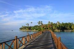 Mabul ö, Sabah, Malaysia Arkivbild