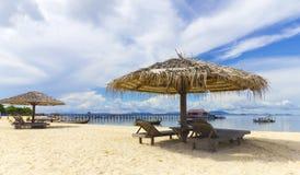 Mabul beach. Beautiful beach in Borneo Mabul island Royalty Free Stock Photos