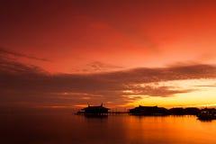 Mabul Island Borneo. A remote island of Mabul located in Semporna, Borneo Stock Photography