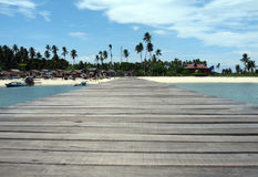 Mabul Island Jetty Royalty Free Stock Photos