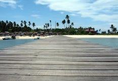 Mabul Island Jetty Royalty Free Stock Photos