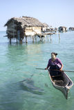 MABUL ISLAND,MALAYSIA-SEP TEMBER 23rd 2013 : Unidentified Sea Ba Royalty Free Stock Photography
