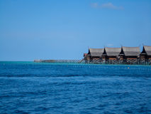 Mabul island at Malaysia. View at Mabul island at Malaysia royalty free stock photo