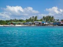 Mabul island at Malaysia. View at Mabul island at Malaysia stock images