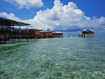 Mabul island at Malaysia. View at Mabul island at Malaysia royalty free stock photos
