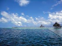 Mabul island at Malaysia. View at Mabul island at Malaysia stock image