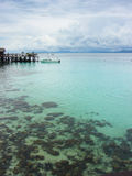 Mabul island. Mabul is a small island off the south-eastern coast of Sabah in Malaysia. The island has been a fishing village since the 1970s. Then in the 1990s Royalty Free Stock Photography