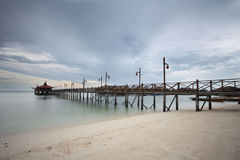 Mabul jetty Stock Photo