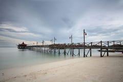 Mabul jetty. Beautiful  mabul semporna island beach semporna Stock Photo