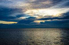 Mabul Sunset Island. A calm ocean sunset from Mabul island in the evening. Located in Malaysia Royalty Free Stock Photography