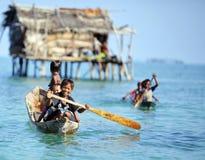 MABUL wyspa MALEZJA, WRZESIEŃ, - 20th 2012: Niezidentyfikowany Denny b obraz royalty free