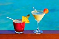 Macédoine de fruits sur la plage des Maldives Photographie stock