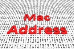 Mac address. As a binary code 3D illustration stock illustration