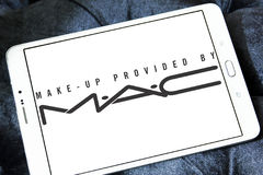 Mac beauty care company logo. Logo of makeup and cosmetic company mac on samsung tablet stock photos