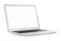 Mac book air laptop 13. Isolated on white, clipping path included
