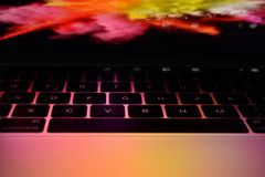 Mac Book Pro 15 Zoll Touch Bar Royalty Free Stock Photography