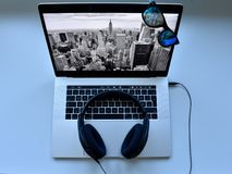 Mac Book Zoll dotyka Pro 15 barów Fotografia Stock