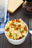 Mac and cheese with bacon Royalty Free Stock Photo
