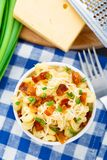 Mac and cheese with bacon Royalty Free Stock Image