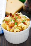 Mac and cheese with bacon Royalty Free Stock Photography