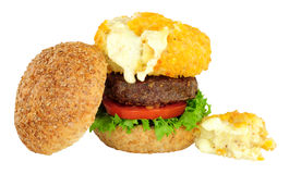 Mac And Cheese Beefburger Sandwich Royalty Free Stock Image