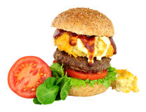 Mac And Cheese Beefburger Sandwich Stock Photography