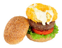 Mac And Cheese Beefburger Sandwich Stock Image