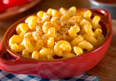 Mac and Cheese. A bowl of delicious home made mac and cheese Stock Photography