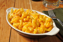 Mac and cheese casserole Stock Photos