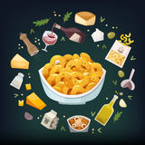Mac and cheese vector illustration