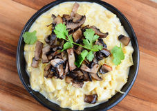 Mac and cheese with mushrooms Italian Stock Image