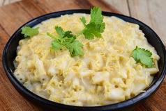 Mac and cheese pasta Stock Photos