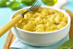 Mac and cheese - traditional american casserole with pasta. Stock Photo
