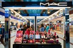 MAC cosmetics. DUBAI, UAE - CIRCA NOVEMBER, 2016: MAC cosmetics at Dubai International Airport. It is the primary airport serving Dubai and is the world's Stock Photo