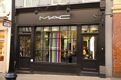 Mac cosmetics. LONDON - JANUARY 22nd: The exterior of MAC on January the 22nd, 2015, in London, England, UK. Mac is one of the UK's leading makeup suppliers Stock Image