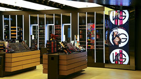 Mac cosmetics outlet. At elements shopping mall in hong kong Royalty Free Stock Photography