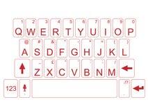 Mac de la PC del teclado con la sombra Imagenes de archivo