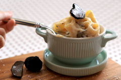 Mac de truffe et fromage Images libres de droits