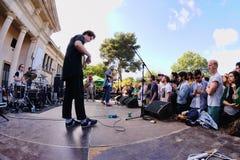 Mac DeMarco-de band, presteert bij het Correcte 2013 Festival van Heineken Primavera Stock Afbeelding