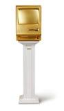 Mac dourado no pódio imagens de stock royalty free