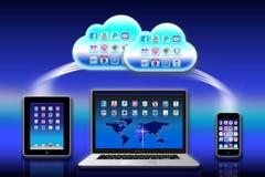 mac för icloud för äppleappsdata stock illustrationer