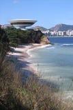 MAC Niterà ³ i, door Oscar Niemeyer royalty-vrije stock fotografie