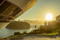 mac niteroi Museum av samtida konst av Niteroi Arkitekt Oscar Niemeyer arkivbilder